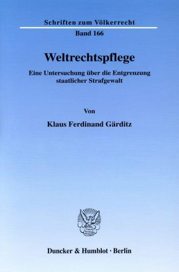 Cover: Weltrechtspflege