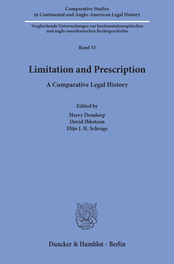 Cover: Comparative Studies in Continental and Anglo-American Legal History (CSC)