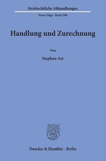 Cover: Handlung und Zurechnung