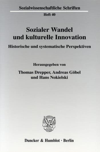 Cover: Sozialer Wandel und kulturelle Innovation