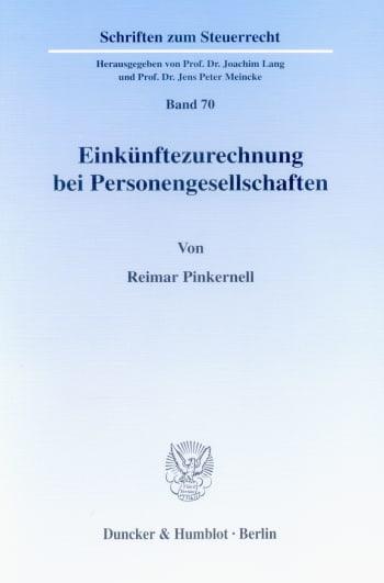 Cover: Einkünftezurechnung bei Personengesellschaften