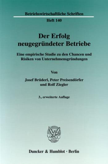 Cover: Betriebswirtschaftliche Schriften (BWS)