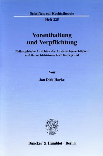 Cover: Vorenthaltung und Verpflichtung