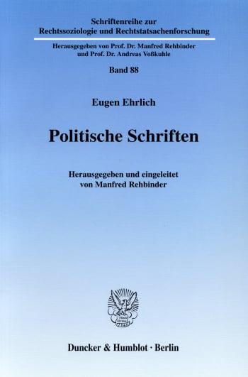 Cover: Politische Schriften