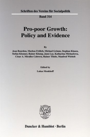 Cover: Pro-poor Growth: Policy and Evidence