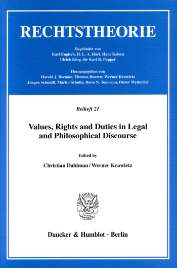 Cover: Values, Rights and Duties in Legal and Philosophical Discourse