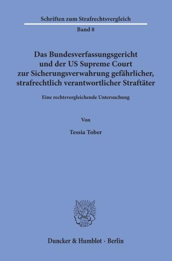 Cover: Schriften zum Strafrechtsvergleich (SRV)
