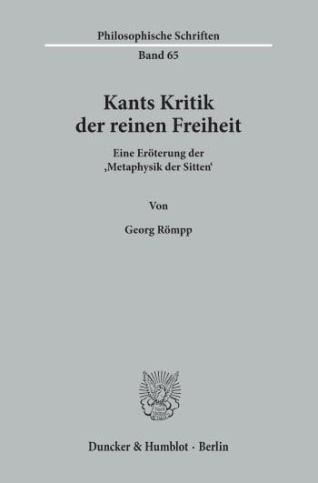 Cover: Kants Kritik der reinen Freiheit