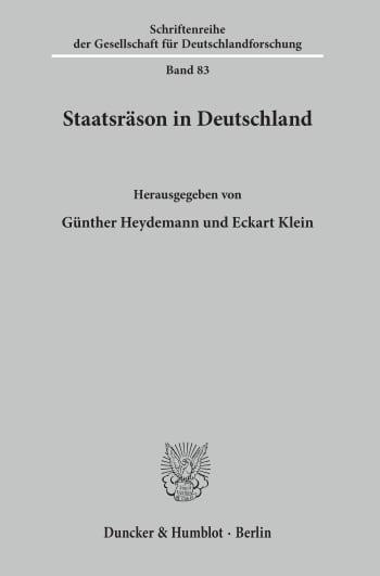 Cover: Staatsräson in Deutschland