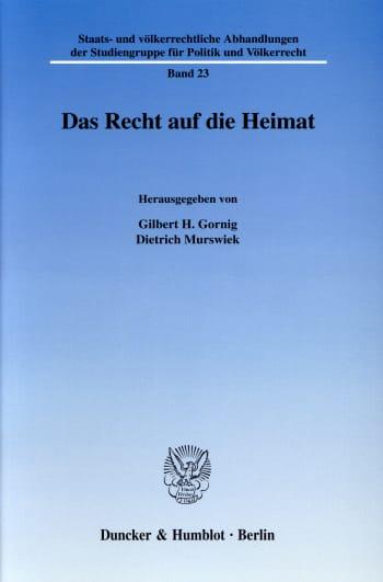 Cover: Das Recht auf die Heimat