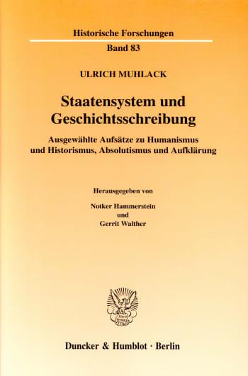 Cover: Staatensystem und Geschichtsschreibung