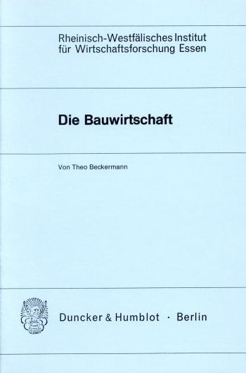 Cover: Die Bauwirtschaft