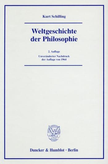 Cover: Weltgeschichte der Philosophie