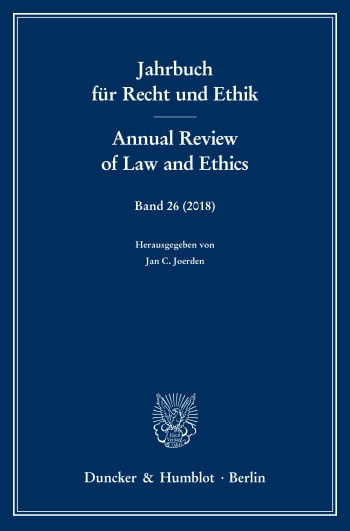 Cover: Jahrbuch für Recht und Ethik / Annual Review of Law and Ethics (JRE)