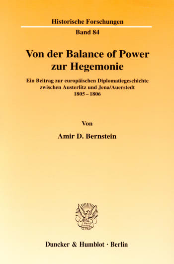 Cover: Von der Balance of Power zur Hegemonie