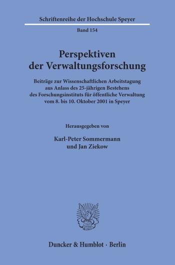 Cover: Perspektiven der Verwaltungsforschung