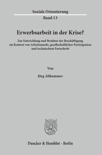 Cover: Erwerbsarbeit in der Krise?