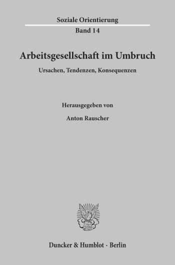 Cover: Arbeitsgesellschaft im Umbruch