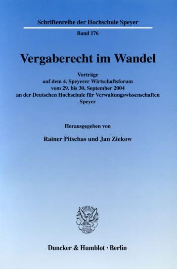 Cover: Schriftenreihe der Deutschen Universität für Verwaltungswissenschaften Speyer (HS)