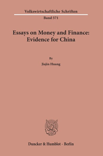 Cover: Essays on Money and Finance: Evidence for China