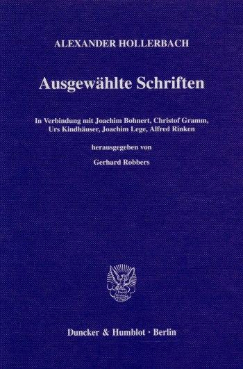 Cover: Ausgewählte Schriften