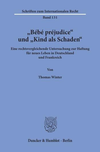 "Cover: ""Bébé préjudice"" und ""Kind als Schaden"""