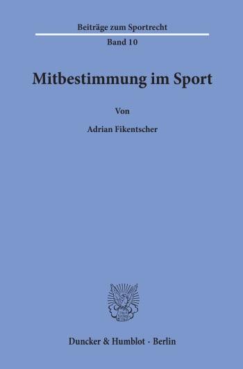 Cover: Mitbestimmung im Sport