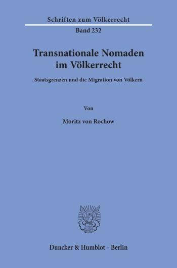 Cover: Transnationale Nomaden im Völkerrecht