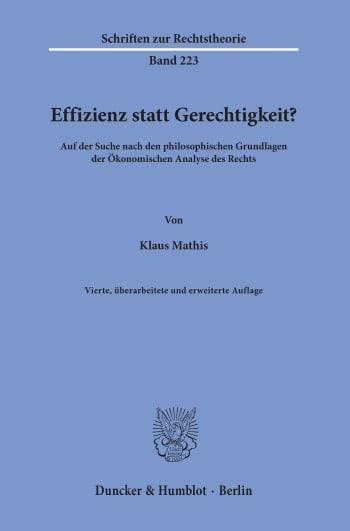 Cover: Schriften zur Rechtstheorie (RT)