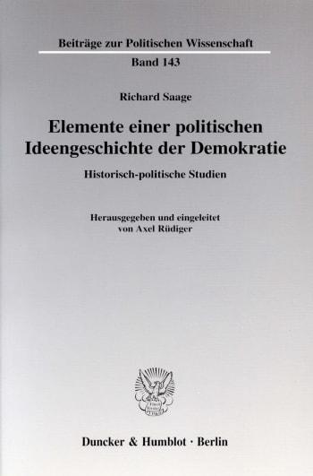 Cover: Elemente einer politischen Ideengeschichte der Demokratie