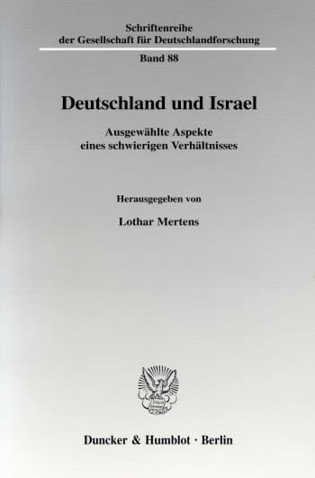 Cover: Deutschland und Israel