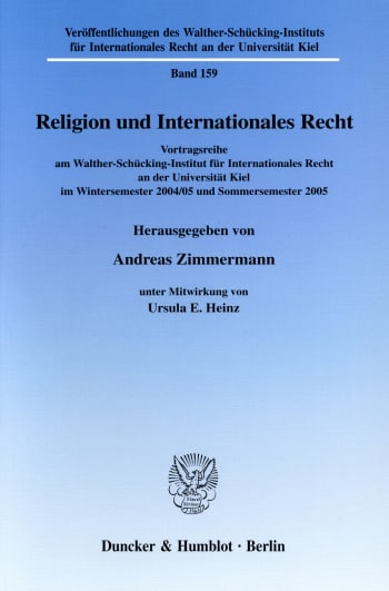 Cover: Religion und Internationales Recht