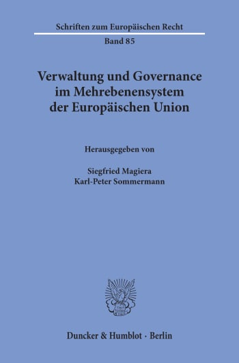 Cover: Verwaltung und Governance im Mehrebenensystem der Europäischen Union
