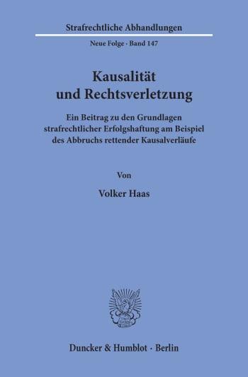Cover: Kausalität und Rechtsverletzung