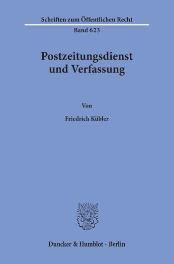 Cover: Postzeitungsdienst und Verfassung