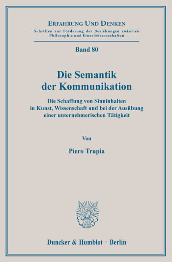 Cover: Die Semantik der Kommunikation