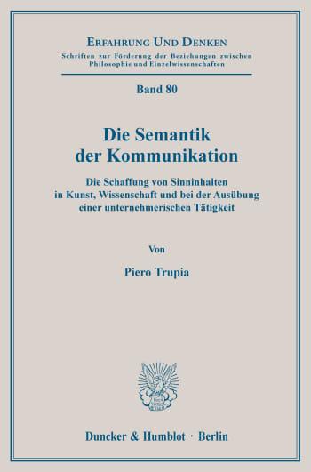 Cover: Erfahrung und Denken (ED)
