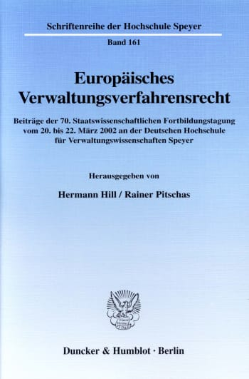 Cover: Europäisches Verwaltungsverfahrensrecht