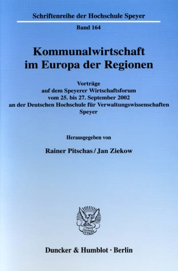 Cover: Kommunalwirtschaft im Europa der Regionen