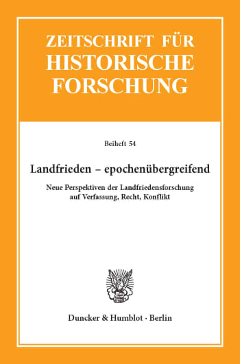 Cover: Landfrieden – epochenübergreifend