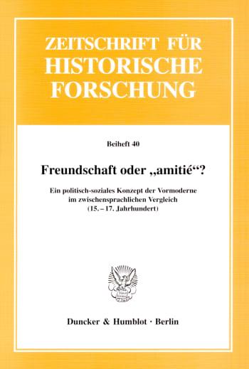 """Cover: Freundschaft oder """"amitié""""?"""