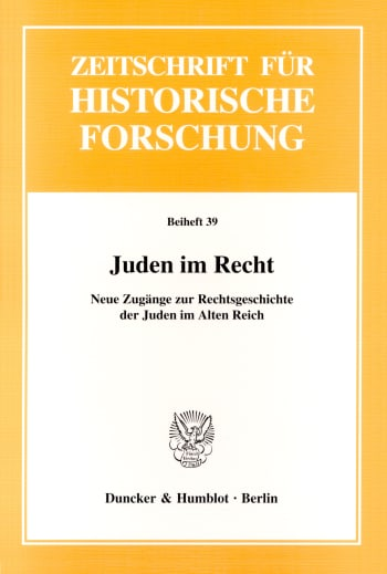 Cover: Juden im Recht