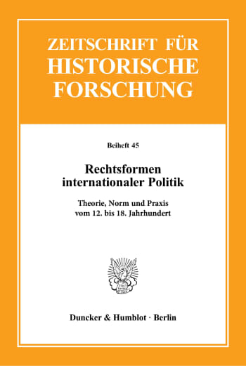 Cover: Rechtsformen internationaler Politik