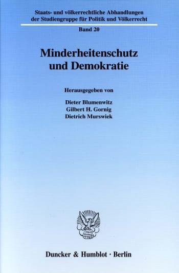 Cover: Minderheitenschutz und Demokratie