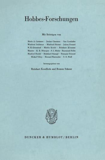 Cover: Hobbes-Forschungen