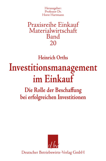 Cover: Praxisreihe Einkauf/Materialwirtschaft