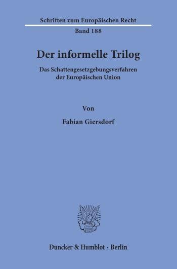Cover: Der informelle Trilog