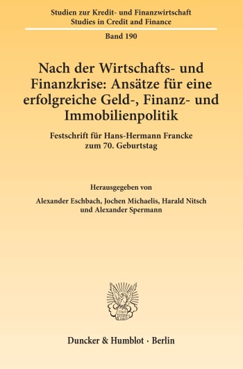 Cover: Studien zur Kredit- und Finanzwirtschaft / Studies in Credit and Finance (SZKF)