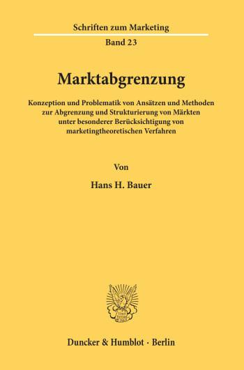 Cover: Marktabgrenzung