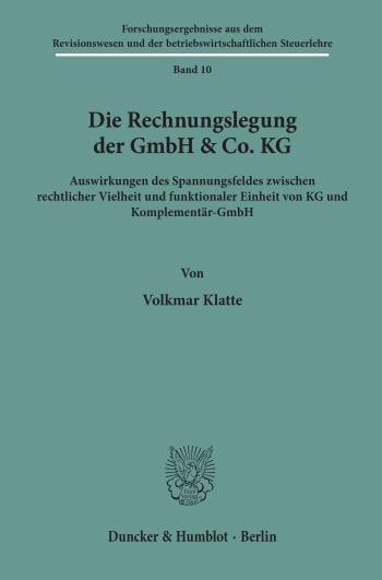 Cover: Die Rechnungslegung der GmbH & Co. KG